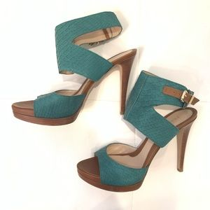 FENDI Phyton Leather Sandals Sz 40